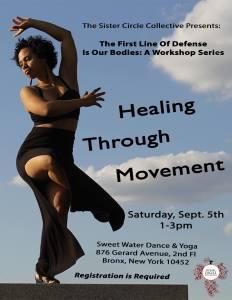 Healing Through Movement Flyer