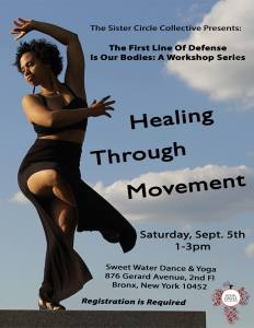 Healing Through Movement Flyer
